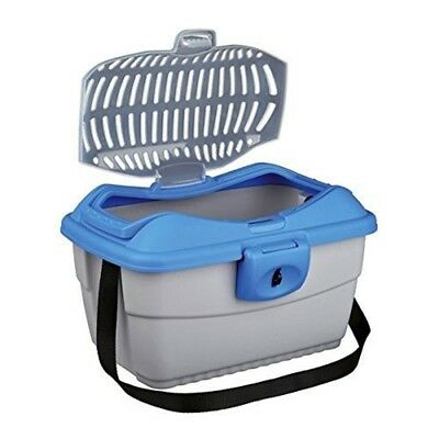 Mini-capri Transport Box, 40 × 22 × 30 Cm, Light Grey/blue - Trixie Box