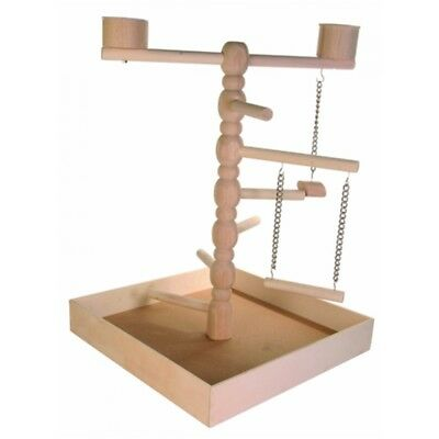 Wooden Playground 41 × 55 × 41cm - x Trixie Stand Parrot Bird Swing Cage Toy