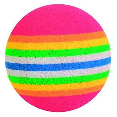 Trixie 4 Rainbow Foam Balls, 3.5 Cm, Pack Of 4 - Balls Toy Cat Kitten Play 35cm