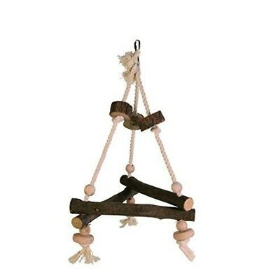 Trixie Natural Living Swing On Rope, 27 x 27 x 27cm - Bird Rope Perch Wooden