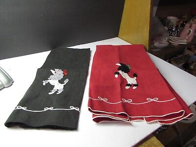 Cool Vintage 1950S Poodle Dog Tea Towels