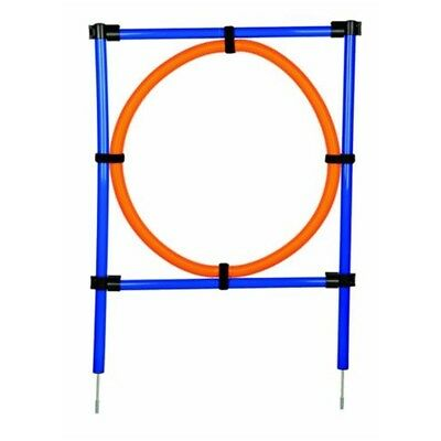 Trixie Dog Activity Agility Ring, 115 ラ 3cm 65 Cm, Orange/ Blue -cm Ring