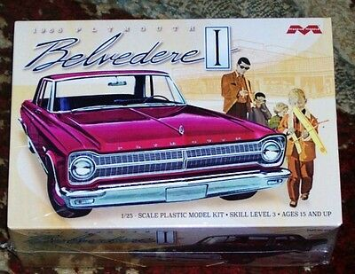 Moebius 1218  1965 Plymouth Belvedere I plastic model kit 1/25
