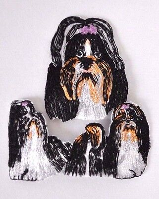 ***embroidered*** Iron On Patch Dog Detailed Quality Shih Tzu *free Shipping*