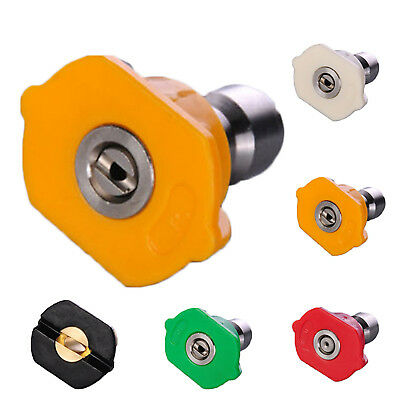 High Pressure Washer Spray Nozzle Tips Quick Disconnect Fittings 1/4 Coupler NT