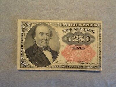 Fifth Issue Series Of 1874 25 Cent Fractional Currency Red Seal
