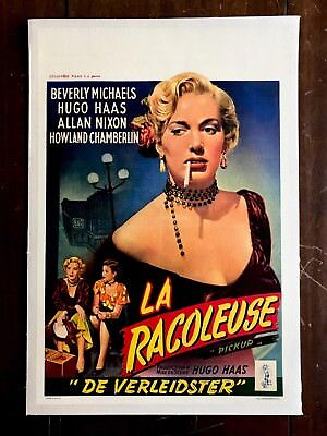 Pickup Beverly  Michaels Belgian Movie Poster On Linen 1951