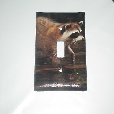 CLASSIC RACCOON in the water FARM ANIMAL LIGHT SWITCH COVER PLATE