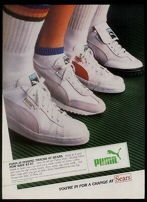 1983 Puma Intimidator Game Cat Court Soft Ride tennis shoes photo Sears print ad