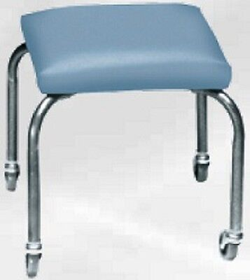 NEW Armedica AM-844 Stainless Steel 4 Leg Cushion Mobile Stool