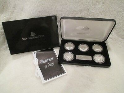 Sterling 5-Coin Masterpieces in Silver ROYAL AUSTRALIAN MINT half dollars