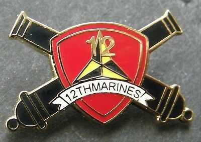 Us Marine Corps 12Th Marines Regiment Lapel Pin Badge 1 Inch Usmc