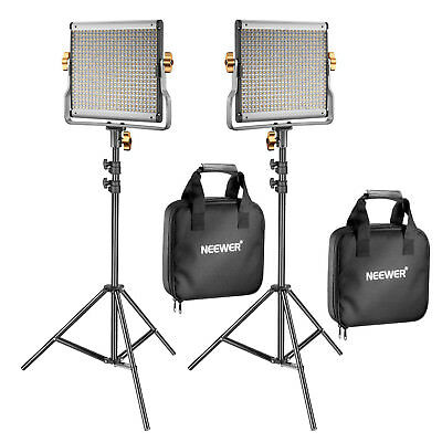 Neewer 2 Pack 480 LED Video Beleuchtung Kit mit 2 78,7 Zoll Lichtstand