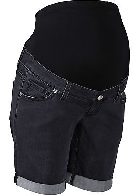 Damen Umstands- Jeansshorts, 162900 in Black Stone