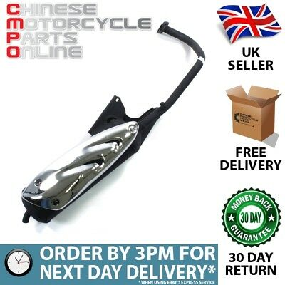50cc Scooter Exhaust System Black for SK50QT (EXSTMCMP037)