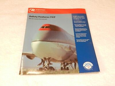 Northwest  Airlines   Aircraft Features Card  747  NWA KLM  Boeing  Whale