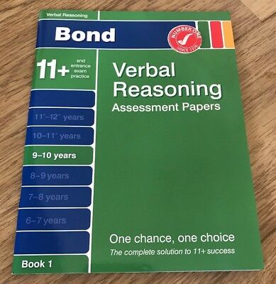 NEW Assessment Papers In Verbal Reasoning Assessment Papers  BOOK 1,  9 - 10 Yrs
