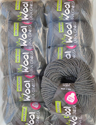 500g Wollpaket Lana Grossa McWool Sport Fb. 112, 10x50g Wolle Paket zum Stricken