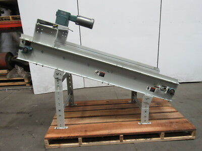 """Parts /Chip Incline Cleated Conveyor 24-1/2"""" Wide 38"""" Discharge 58 FPM 230/460V"""