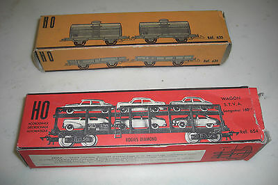 Jouef Ho / Lot De 2 Anciennes Boites Vides Train / Wagons / Made In France