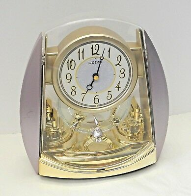 Seiko Motion Mantle Clock Castles keeps time wizard piper rare