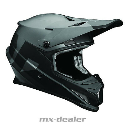 Thor MX Sector Level Schwarz Grau Helm Crosshelm MX Motocross Cross