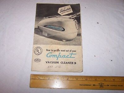 Vintage INTERSTATE COMPACT VACUUM CLEANER Manual Publication
