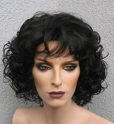 Diva Dream - Göttliche, voluminöse TOP Locken Perücke in schwarz