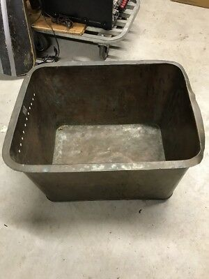 "Antique Copper Farm House Kitchen Sink, Tub, Basin Dovetailed  22.5""x 17.5""x 13"""