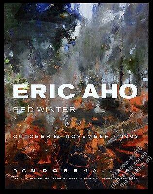 2009 Eric Aho Red Winter art NYC gallery show vintage print ad