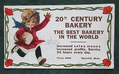 Vintage 20th Century Bakery Haverhill Mass Ink Blotter