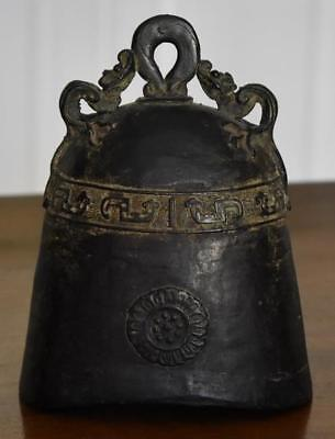 Antique Chinese Early Shang Dynasty Bronze Or Iron Large Bell