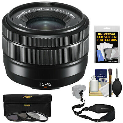 Fujifilm 15-45mm f/3.5-5.6 XC OIS Lens Kit Black for X-Pro2 X-T2 X-T20 X-A5 X-E3