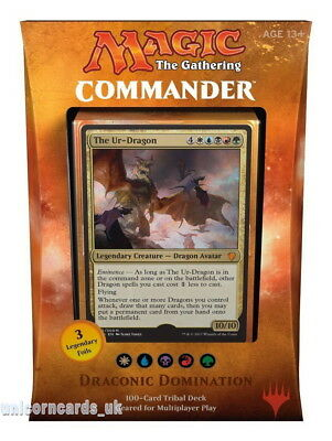 MTG - Magic: the Gathering Commander 2017 Deck : Draconic Domination :: New & Se