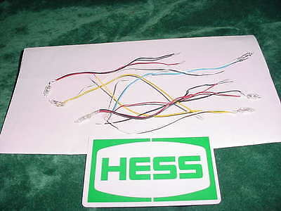 Six 6 Hess Toy Gasoline Christmas Xmas Toys Trucks Parts Original Working Bulbs
