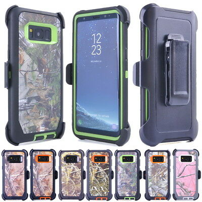 Camo Case For Samsung Galaxy S9 S8 Plus Note 8, Clip Belt Fits OTTERBOX DEFENDER