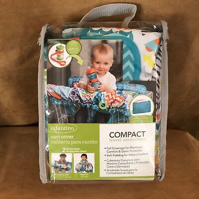 Infantino shopping cart cover compact baby infant toddler seat teal play mat