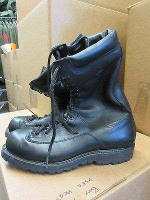 Us Army Matterhorn Thinsulate Mountain Boots Size 11 Wide New Black Leather