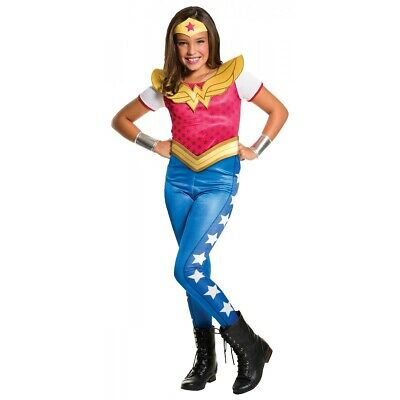 Wonder Woman Costume DC Super Hero Girls Halloween Fancy Dress