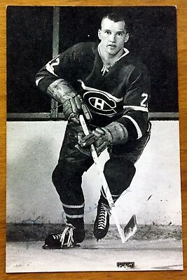 1960's SPORTS POST CARD DON MARSHALL MONTREAL CANADIENS