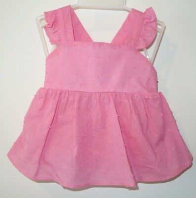 New W/Tags Bella Bliss Pink Dotted Swiss Sibby Bloomer Outfit Size 3 Month