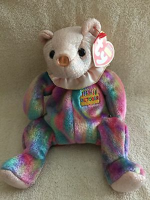 Ty Beanie Baby October - 2001 - Hang Tag Protector Included - Mwmt