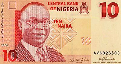 Nigeria 2006 10 Naira Currency Unc