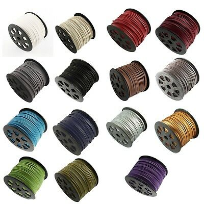 Suede Cord with Imitation Leather, Faux Suede, String, Thong 3mm x 1.5mm (3B2)