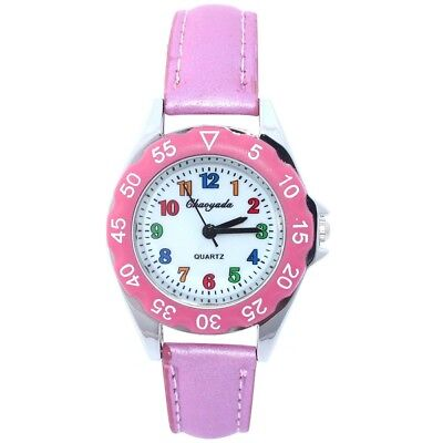 Pink Student Girl Boy Kids Learn Time Teacher Watch Back School U48P
