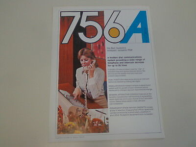 Western Electric Bell Telephone 756A PBX System Advertising Flyer 1973