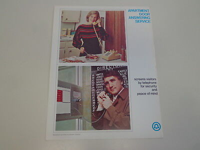 Western Electric Bell Telephone Apartment Door System Advertising Flyer 1973
