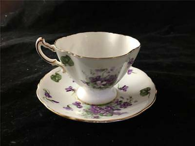 Hammersley Victorian Violets Cup & Saucer Made in England