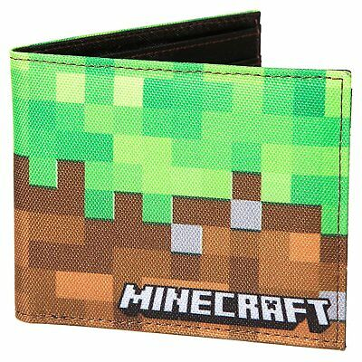 Authentic MINECRAFT Dirt Block Bi-Fold Wallet NEW