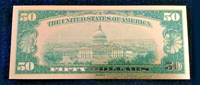 """☆✔ 2X MINT☆OLD STYLE """"GOLD""""$50.00 GOLD CERTIFICATE Fifty DOLLAR Rep.*Bank☆note☆✔"""